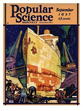 Front Cover of Popular Science Magazine: September 1, 1927