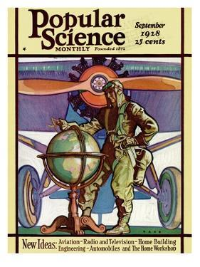 Front Cover of Popular Science Magazine: September 1, 1928