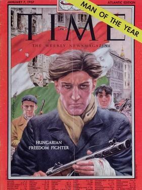 Front Cover of 'Time' Magazine Devoted to the Hungarian Revolution of 1956, 7th January 1957