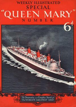 Front Cover of Weekly Illustrated Magazine - Queen Mary (Steamship) Special Issue