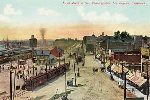 Front Street, San Pedro Harbor, California