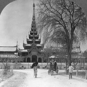 Front View of the Royal Palace, Mandalay, Burma, 1908