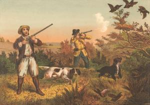 Frontier Hunters with Dogs