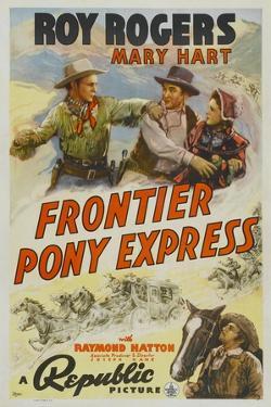 Frontier Pony Express, Roy Rogers, Mary Hart, 1939