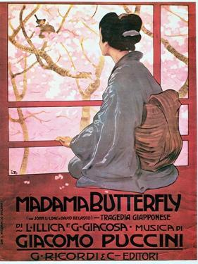 """Frontispiece of the Score Sheet for """"Madame Butterfly"""" by Giacomo Puccini"""