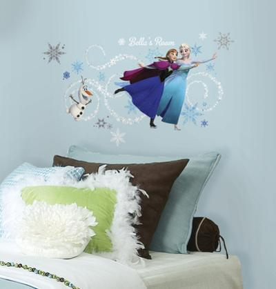 Frozen Custom Headboard Featuring Elsa, Anna & Olaf Peel and Stick Giant Wall Decals