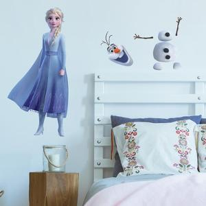 FROZEN II ELSA AND OLAF PEEL AND STICK GIANT WALL DECALS