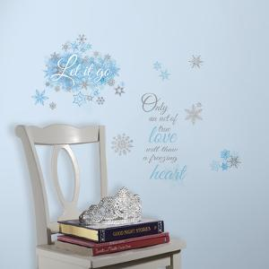 Frozen Let it Go Peel and Stick Wall Decals