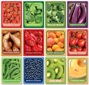 Fruit and Veggie Senses Cards - 12