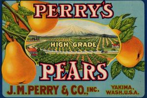 Fruit Crate Labels: Perry's High Grade Pears; J.M. Perry and Company, Inc.
