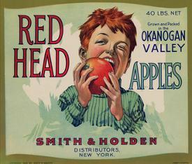 Affordable apple posters for sale at allposters fruit crate labels red head apples distributed by smith and holden new york urtaz Gallery