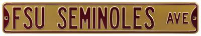FSU Seminoles Ave gold Steel Sign