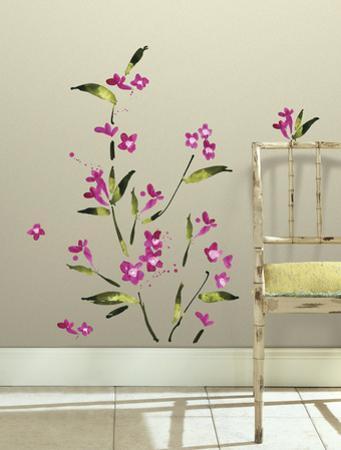 Fuchsia Flower Arrangement Peel and Stick Wall Decals