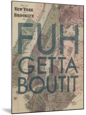 FUHGETTABOUTIT - 1867, New York & Brooklyn Plan, New York, United States Map