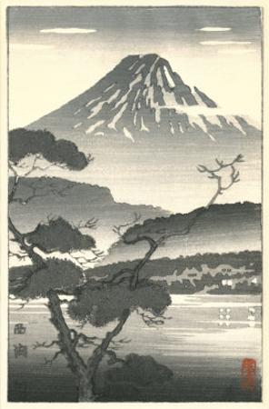 Fujiyama and Trees