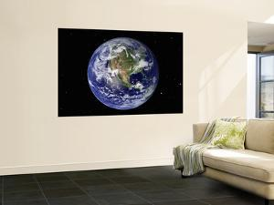 Full Earth Showing North America (With Stars)