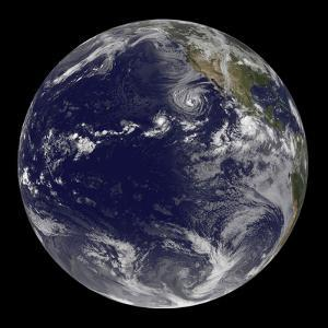 Full Earth Showing Various Tropical Storms