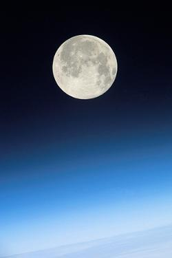 Full Moon Above Earth, From the ISS