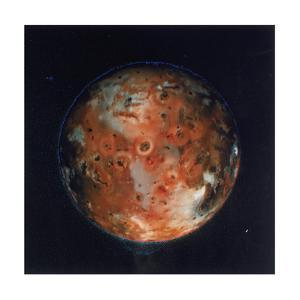 Full View of Io, One of the Moons of Jupiter, 1979