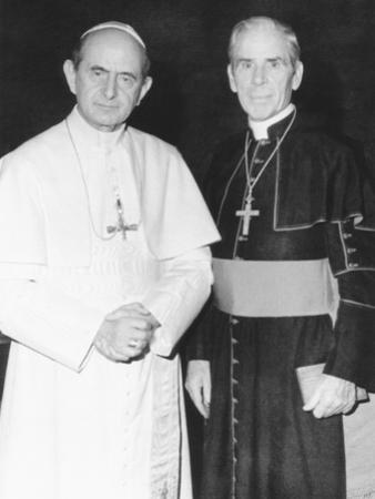 Fulton J. Sheen Following a Private Audience Pope Paul VI at the Vatican, March 17, 1971