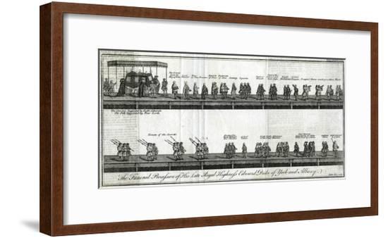 Funerals, Duke of York--Framed Giclee Print