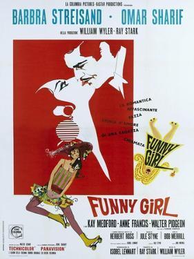 Funny Girl, Italian poster, Barbra Streisand, Omar Sharif, 1968