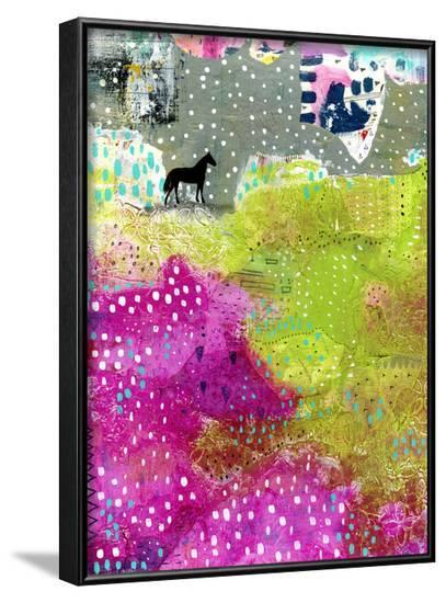 Fuschia and Lime Pasture-Sarah Ogren-Framed Art Print