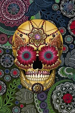 Sugar Skull Paisley Garden by Fusion Idol Arts
