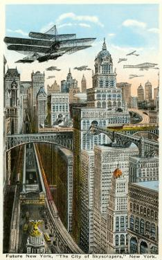 Future New York with Airships