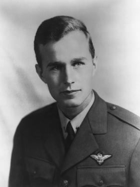 Future US President George H.W. Bush as a Navy Pilot During World War II, Ca. 1942