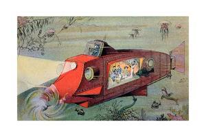 Futurist Personal Submarine as Portrayed in 1912
