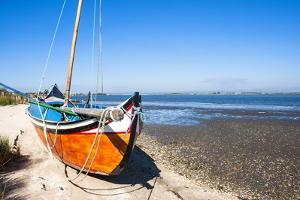 Colorful Boats on the Beach, Torreira, Aveiro, Beira, Portugal, Europe by G and M Therin-Weise