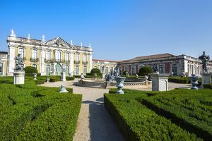 Gardens, Royal Summer Palace of Queluz, Lisbon, Portugal, Europe by G and M Therin-Weise