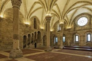 Refectory, Santa Maria Monastery, UNESCO World Heritage Site, Alcobaca, Estremadura by G and M Therin-Weise