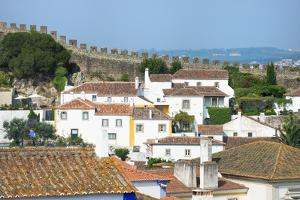 View over the Old City and the Ramparts, Obidos, Estremadura, Portugal, Europe by G and M Therin-Weise