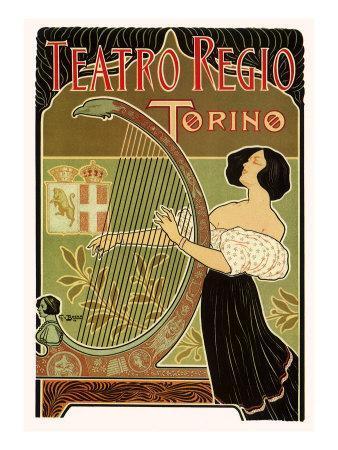 Teatro Regio, Torino: Theatre Royal de Turin Opera House, c.1898