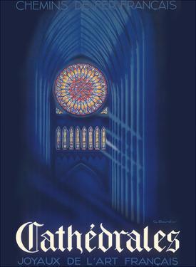 Cathedrals - Joyaux de L'art Français (Jewels of French Art) - SNCF by G. Bourdier