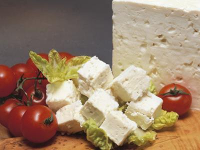 Close-Up of Cheese (Feta) with Tomatoes by G. Cigolini
