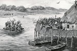 Lake-Dwellers Attacked by G.F. Scott Elliot