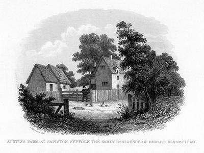 Austin's Farm at Sapiston, Suffolk, the Early Residence of Robert Bloomfield, 1840
