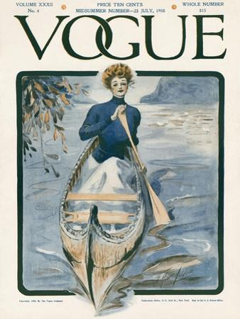 Vogue Cover - July 1908 by G. Howard Hilder