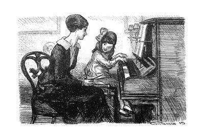 Piano Teacher and Pupil, 1915
