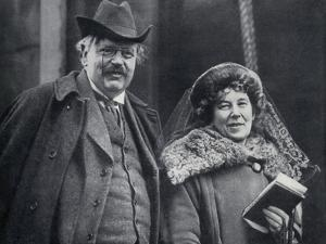 G. K. Chesterton with His Wife Frances Blogg