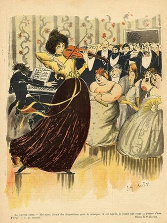 Satire of a Salon Musical Evening from the Back Cover of 'Le Rire', 17th December 1898