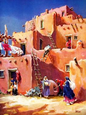 """Adobe Village,""February 1, 1940 by G. Kay"
