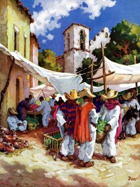 """Mexican Village Market,""June 1, 1938 by G. Kay"