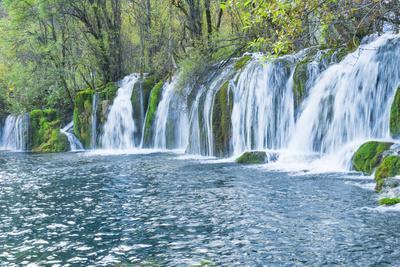Arrow Bamboo Lake Waterfalls, Jiuzhaigou National Park, Sichuan Province, China, Asia
