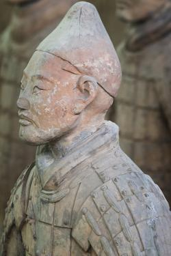 Bust of a Terracotta Warrior, Mausoleum of the First Qin Emperor, Xian, Shaanxi Province, China by G & M Therin-Weise