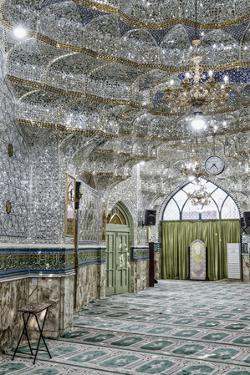 Emamzadeh Zeyd Mausoleum, entrance hall decorated with mirrors, Tehran, Islamic Republic of Iran by G&M Therin-Weise