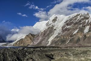Engilchek Glacier and Khan Tengri Mountain, Central Tian Shan Mountain range, Border of Kyrgyzstan  by G&M Therin-Weise